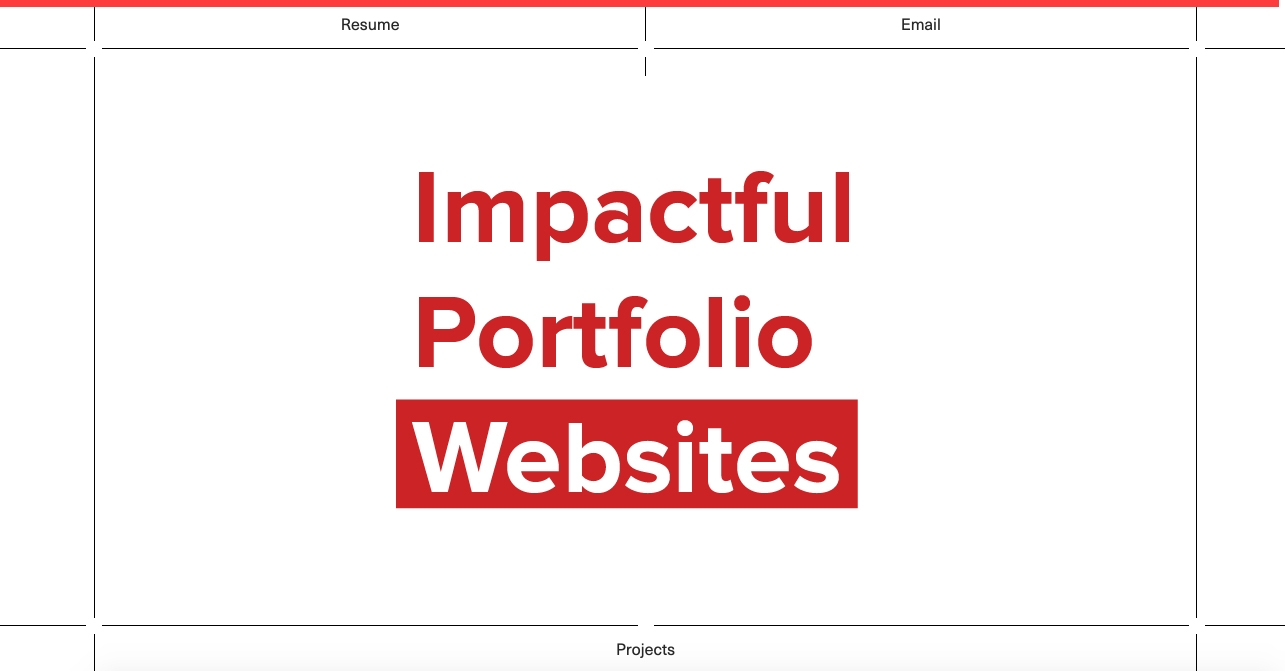 Impactful Portfolio Websites