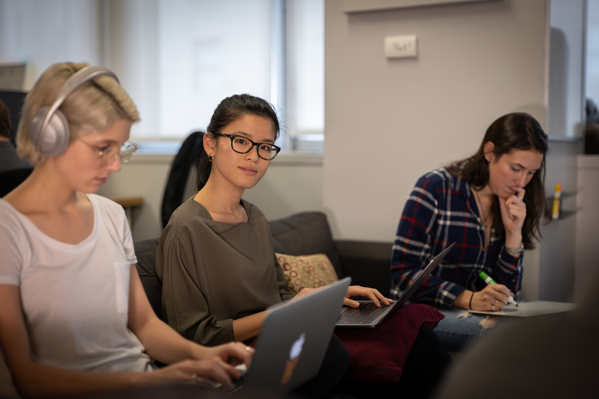 Women collaborating on a project