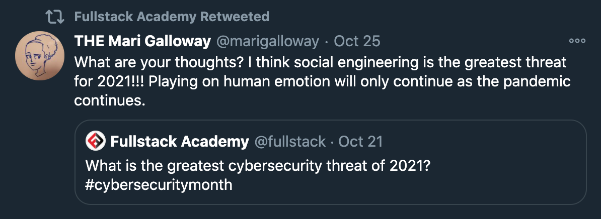 Twitter Cyber Prediction 2021 Social Engineering