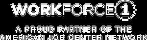 Workforce1 - A Proud Partner of the American Job Center - grey logo
