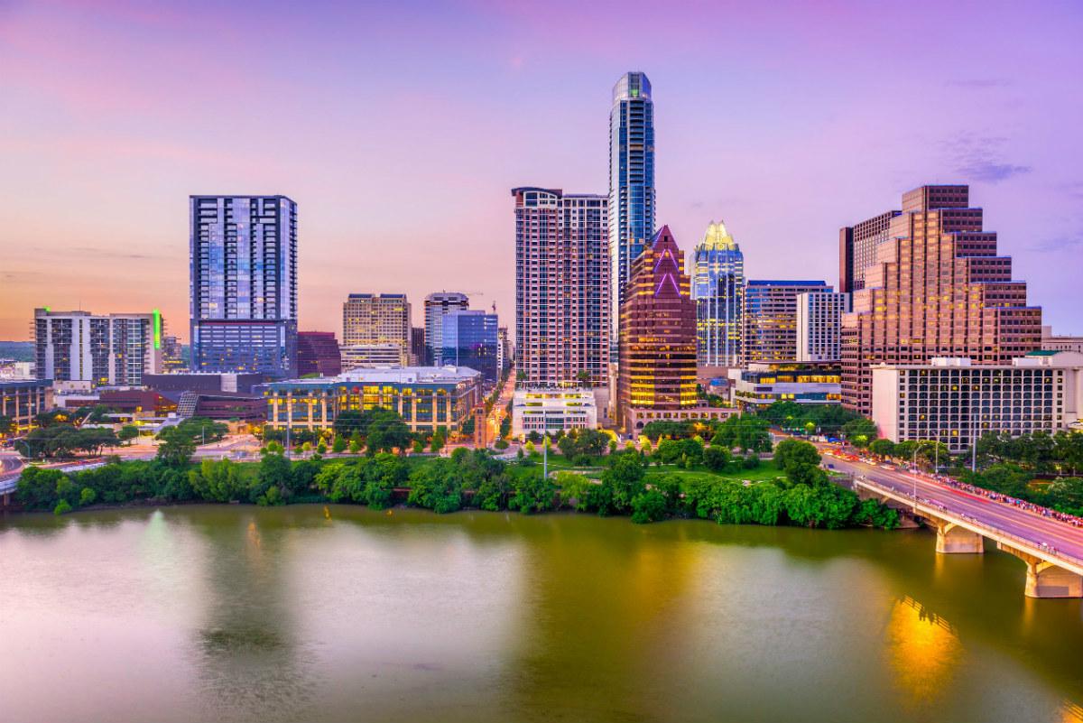 Skyline of Austin Texas, a tech job hotspot