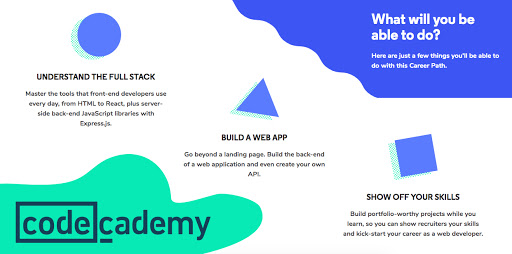 What you'll learn at Codecademy