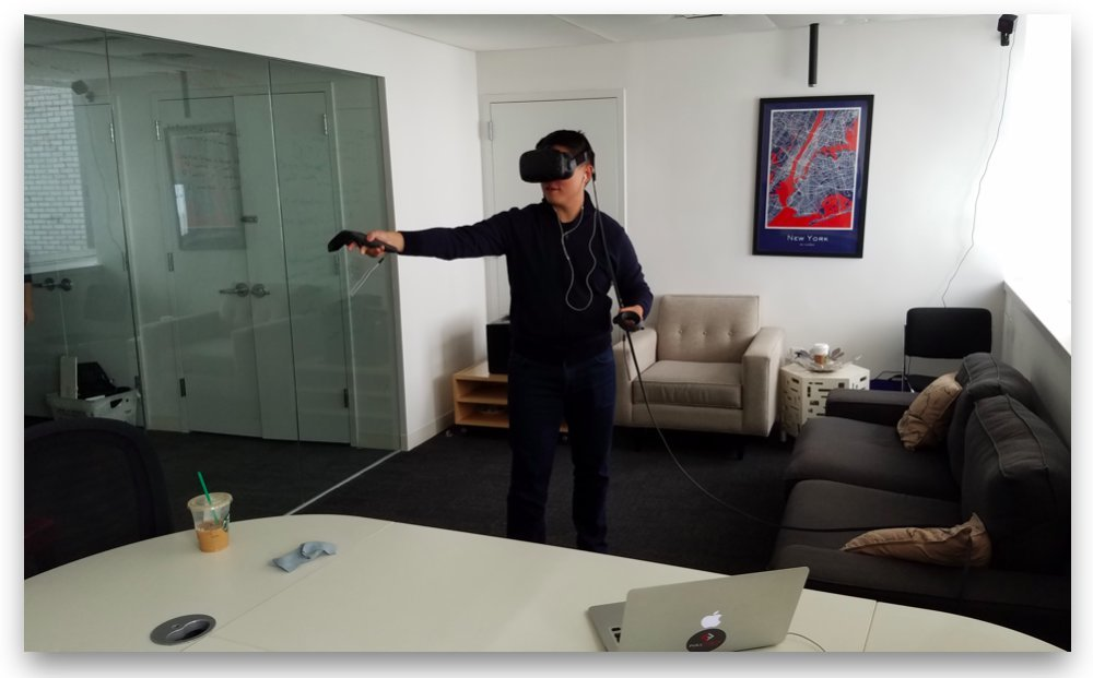 Man with VR headset