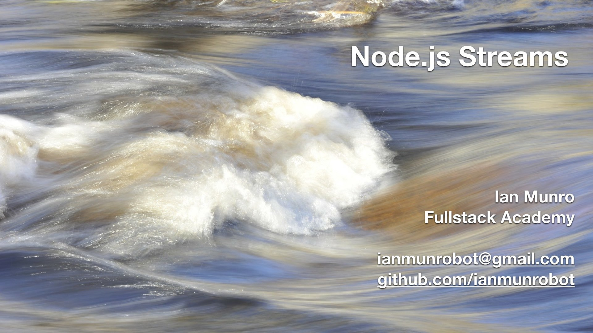 Intro to Node js streams | Fullstack Academy