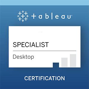 tableau specialist certificate